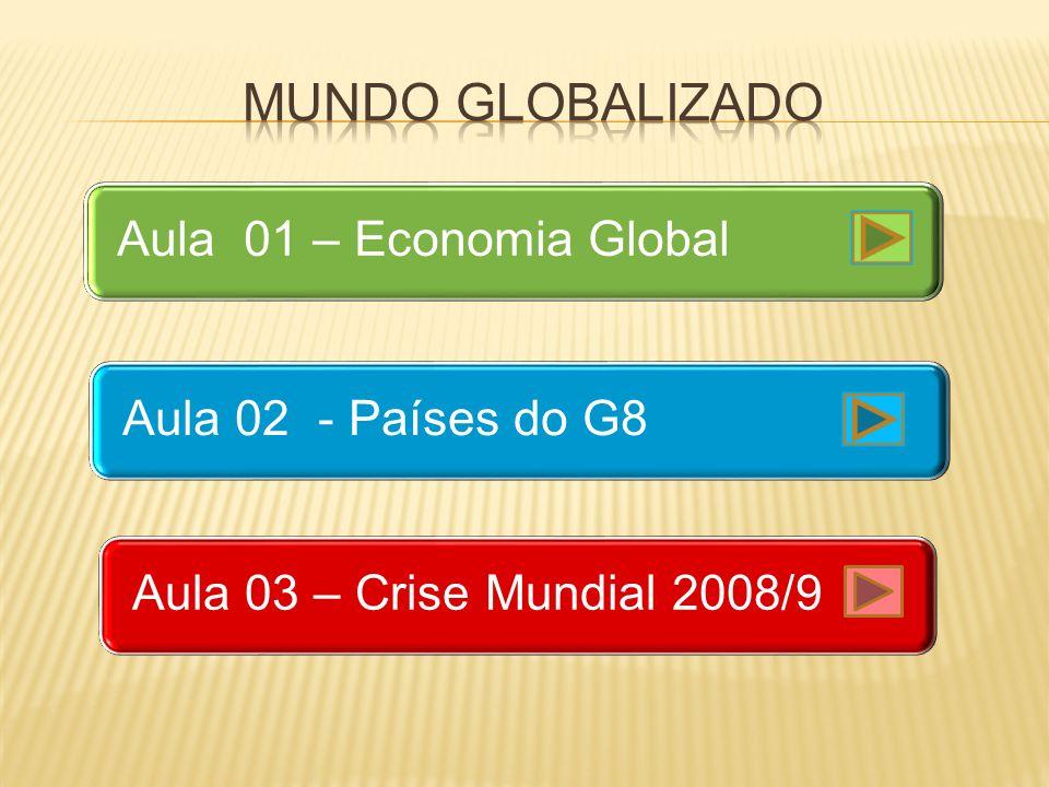 Aula 01 – Economia GlobalAula 02 - Países do G8Aula 03 – Crise Mundial 2008/9