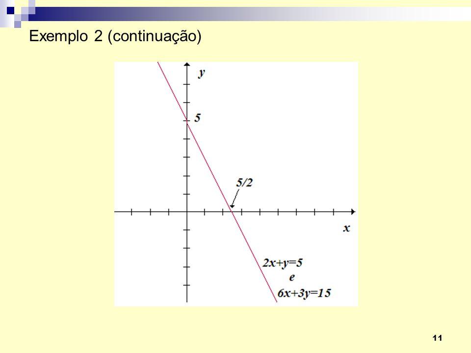 11 Exemplo 2 (continuação)