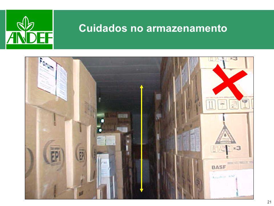 20 Cuidados no armazenamento