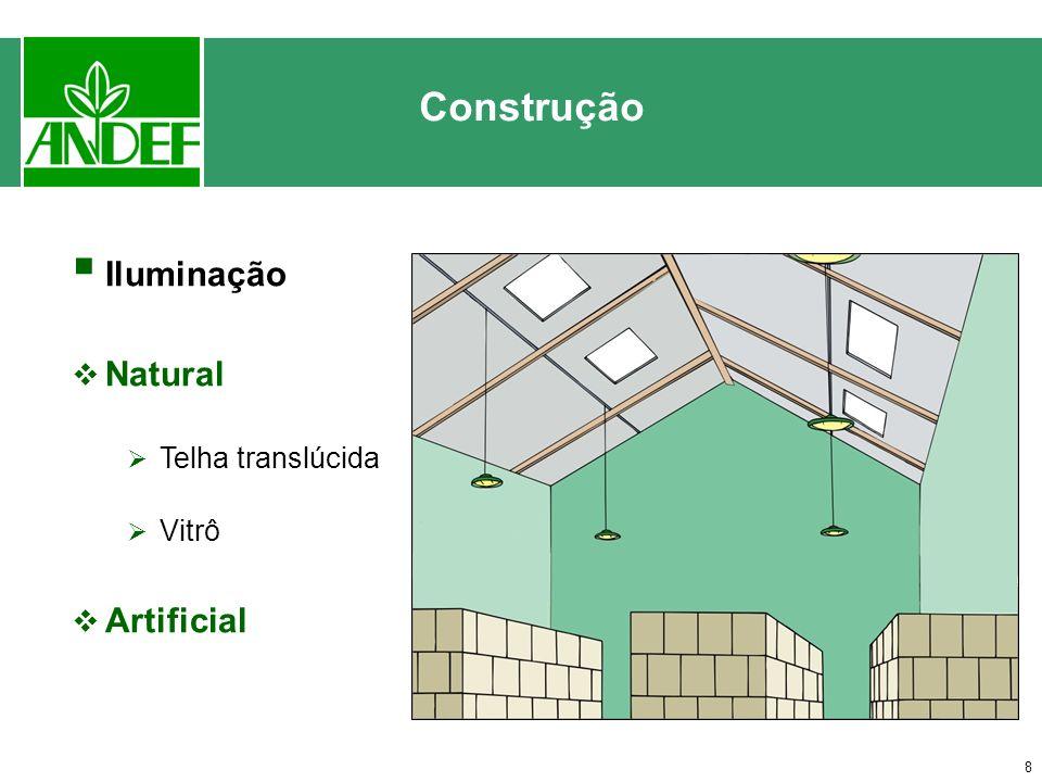 7 Ventilação Natural: aberturas inferiores e superiores Construção Artificial: utilização de exaustores e ventiladores