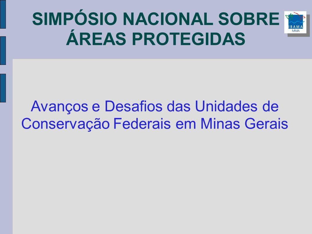 SIMPÓSIO NACIONAL SOBRE ÁREAS PROTEGIDAS Avanços e Desafios das Unidades de Conservação Federais em Minas Gerais
