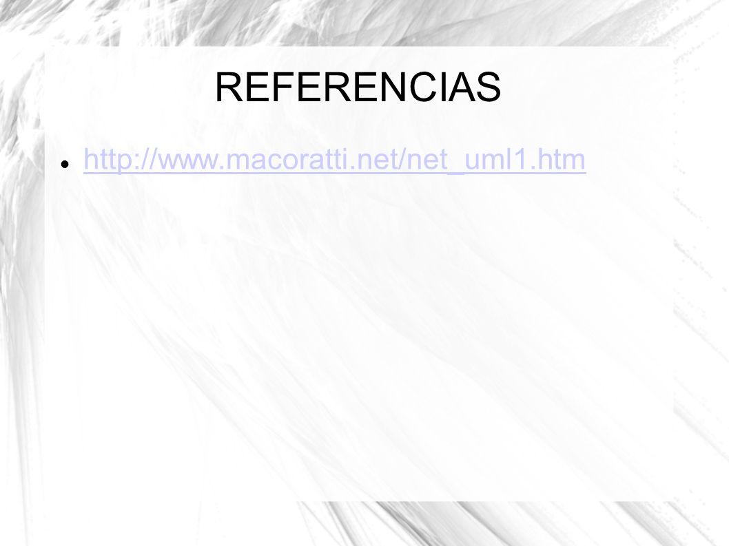 REFERENCIAS http://www.macoratti.net/net_uml1.htm