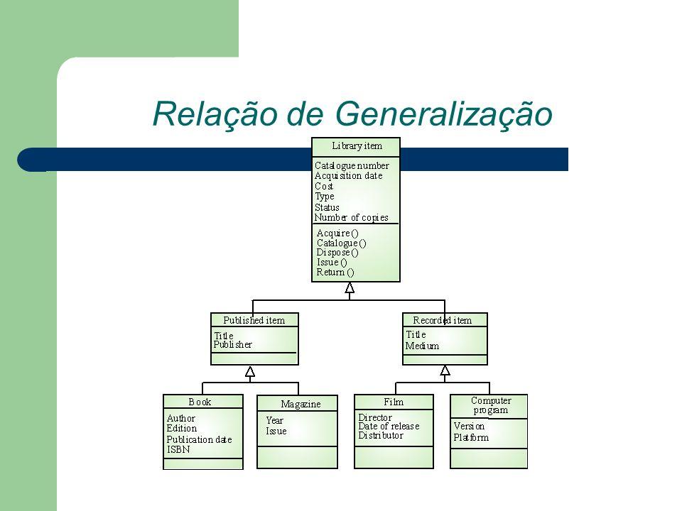 Relação de Generalização