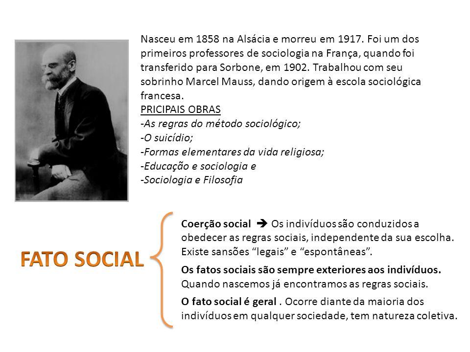 Nasceu em 1858 na Alsácia e morreu em 1917. Foi um dos primeiros professores de sociologia na França, quando foi transferido para Sorbone, em 1902. Tr