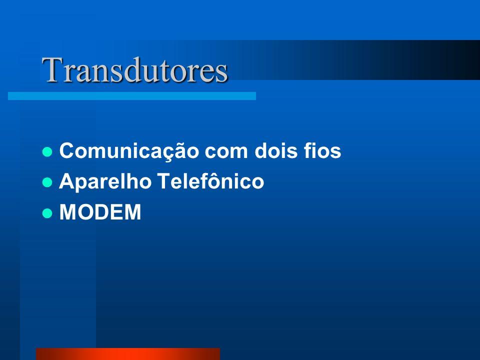 Transdutores Comunicação com dois fios Aparelho Telefônico MODEM