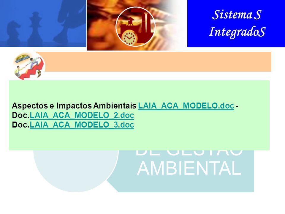 Sistema S IntegradoS SISTEMA DE GESTÃO AMBIENTAL Aspectos e Impactos Ambientais LAIA_ACA_MODELO.doc - Doc.LAIA_ACA_MODELO_2.doc Doc.LAIA_ACA_MODELO_3.doc Esta organização foi fundada em 1947 na Suíça, com sede em Genebra.