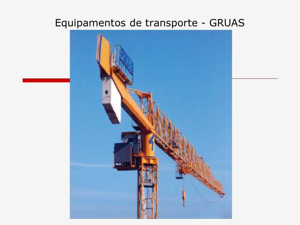 Equipamentos de transporte - GRUAS