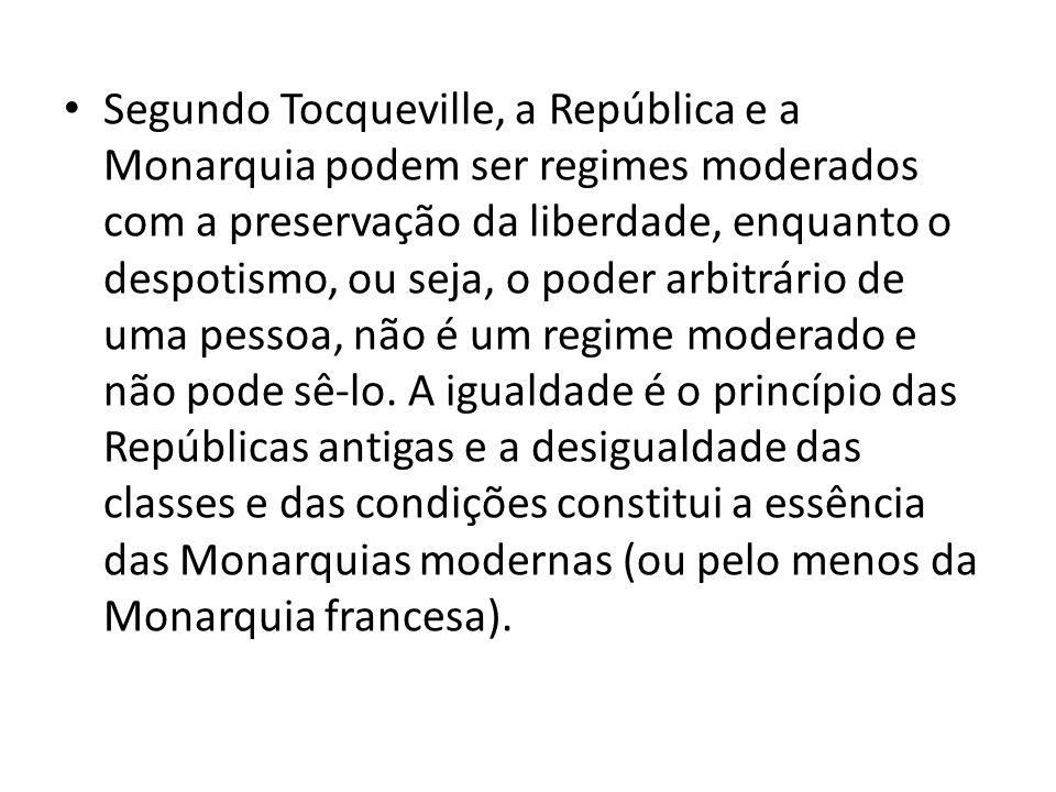 A liberdade não pode se fundamentar na desigualdade; deve assentar-se sobre a realidade democrática da igualdade de condições.