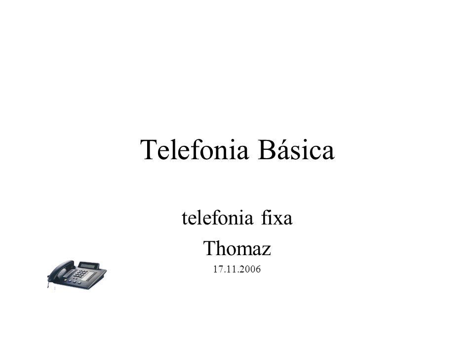 Estrutura de um Sistema: Componentes: Podemos considerar três as famílias de componentes de um sistema: –Família dos Transdutores: Interface entre os usuários e o sistema de telecomunicações.