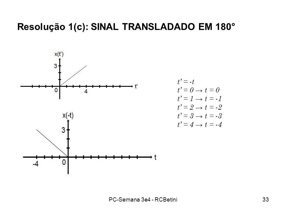 PC-Semana 3e4 - RCBetini33 Resolução 1(c): SINAL TRANSLADADO EM 180° t = -t t = 0 t = 1 t = -1 t = 2 t = -2 t = 3 t = -3 t = 4 t = -4
