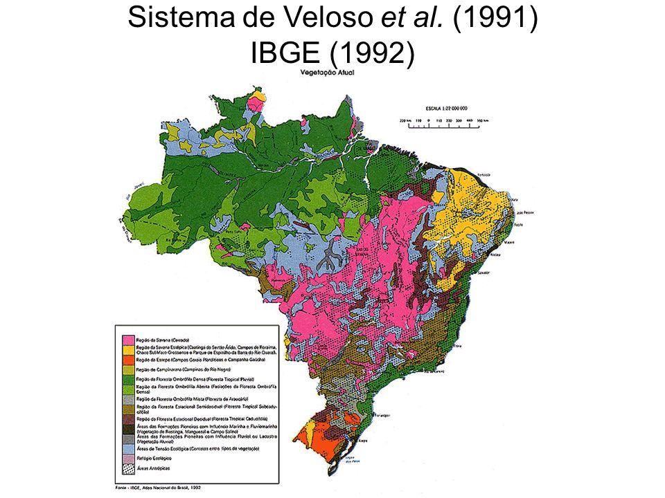 Sistema de Veloso et al. (1991) IBGE (1992)