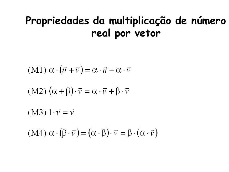 Propriedades da multiplicação de número real por vetor