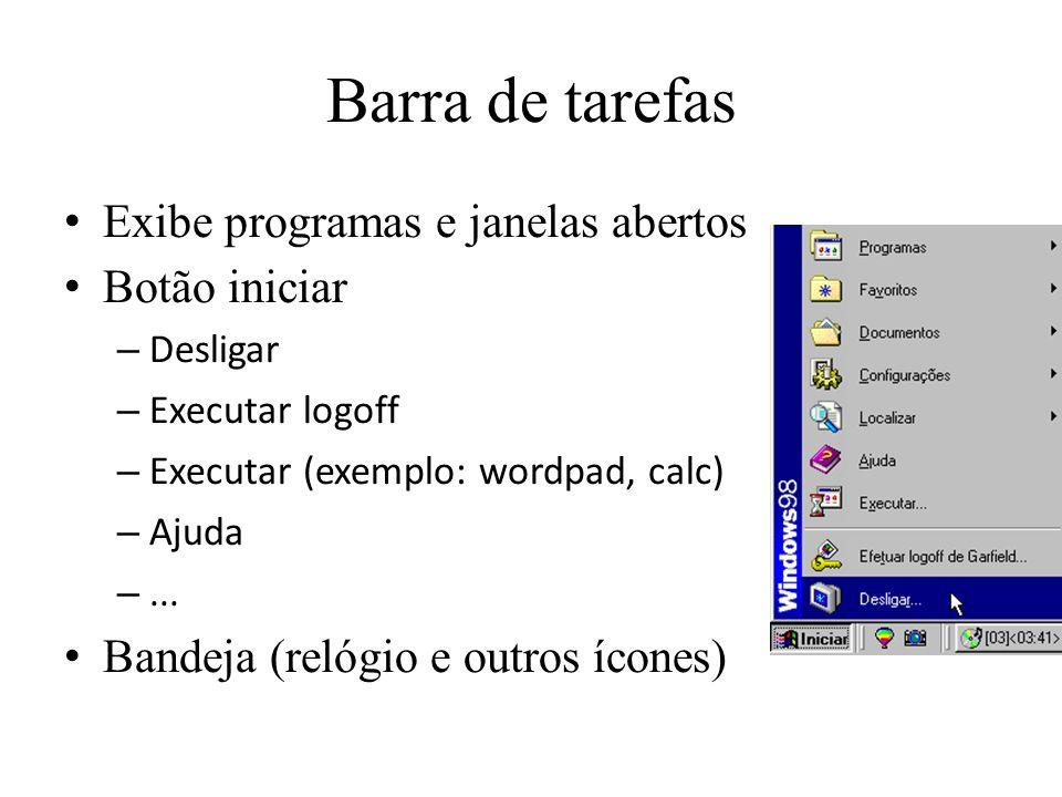 Windows Comando executar...– wordpad, notepad, calc, command, mspaint...