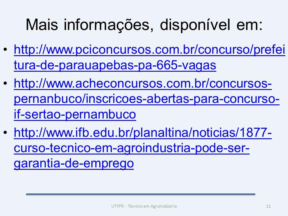 Mais informações, disponível em: http://www.pciconcursos.com.br/concurso/prefei tura-de-parauapebas-pa-665-vagashttp://www.pciconcursos.com.br/concurs