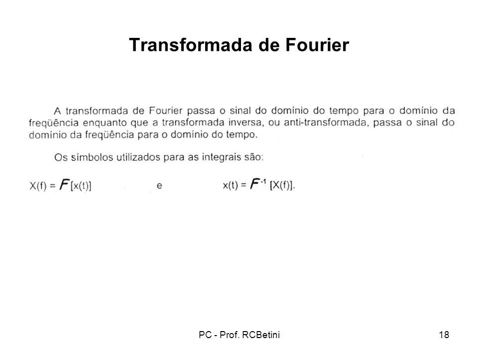 PC - Prof. RCBetini18 Transformada de Fourier