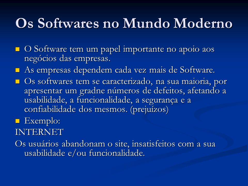 Os Softwares no Mundo Moderno O Software tem um papel importante no apoio aos negócios das empresas. O Software tem um papel importante no apoio aos n