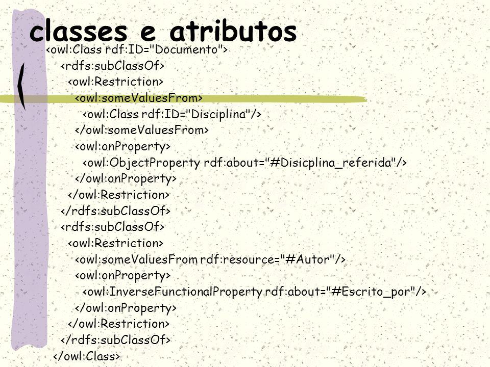 classes e atributos
