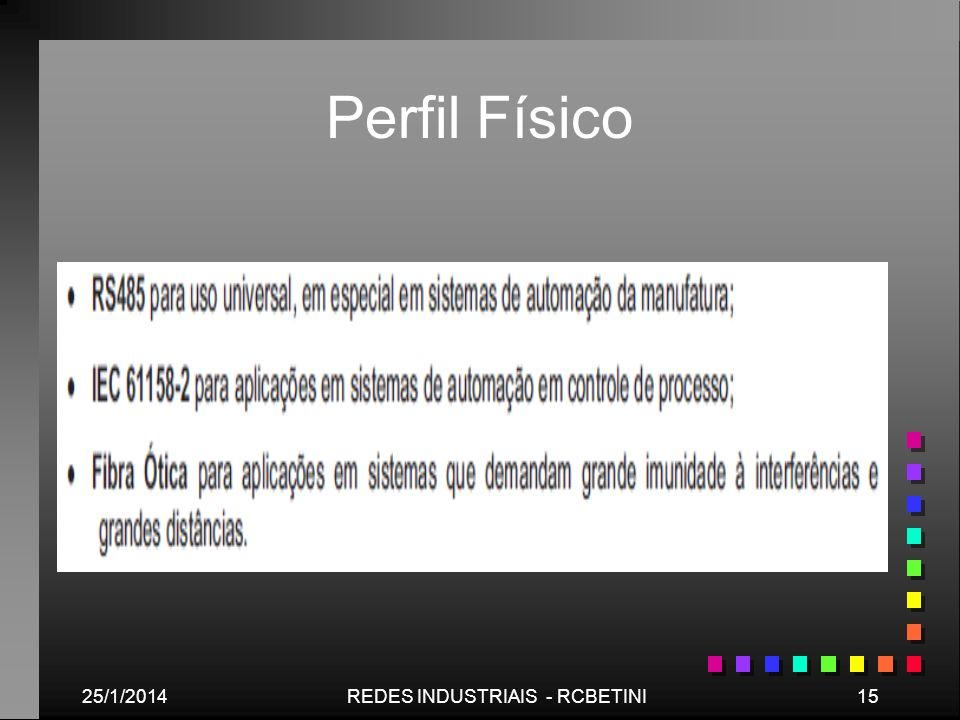 25/1/201415REDES INDUSTRIAIS - RCBETINI Perfil Físico