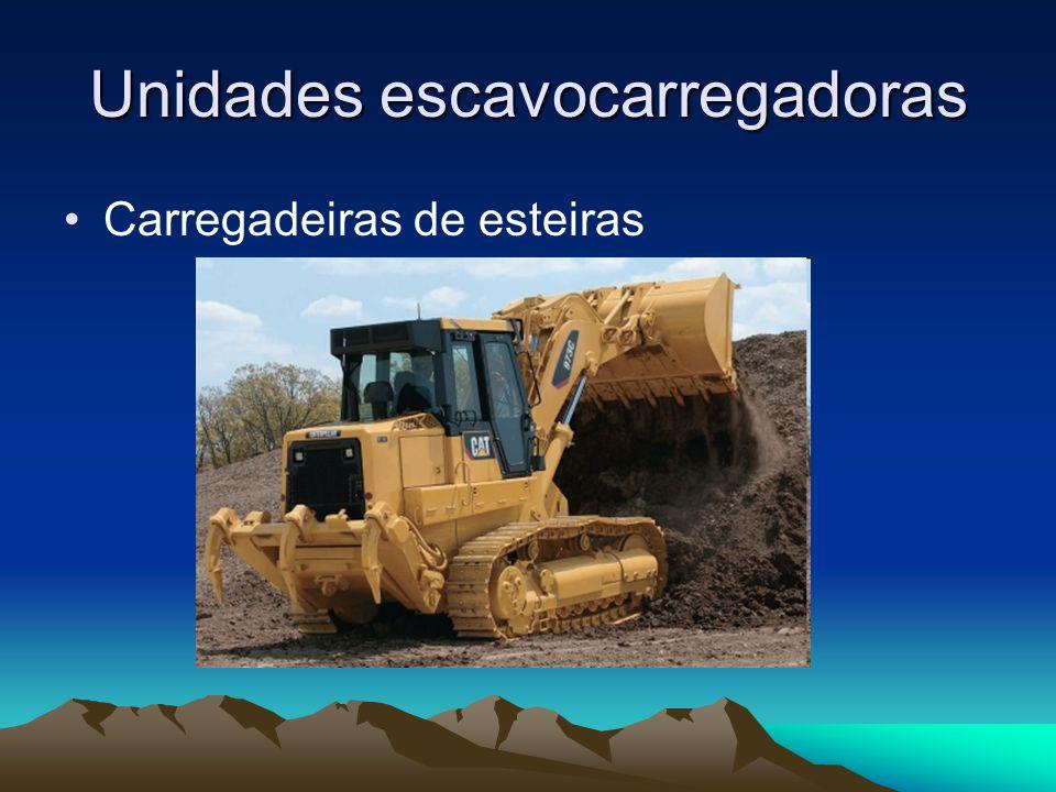 Unidades escavocarregadoras Carregadeiras de esteiras