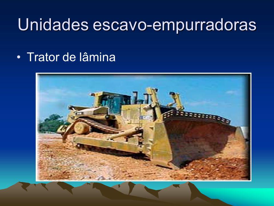 Unidades escavo-empurradoras Trator de lâmina