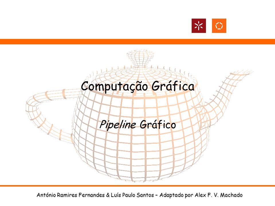 António Ramires Fernandes & Luís Paulo Santos – Adaptado por Alex F. V. Machado Computação Gráfica Pipeline Gráfico