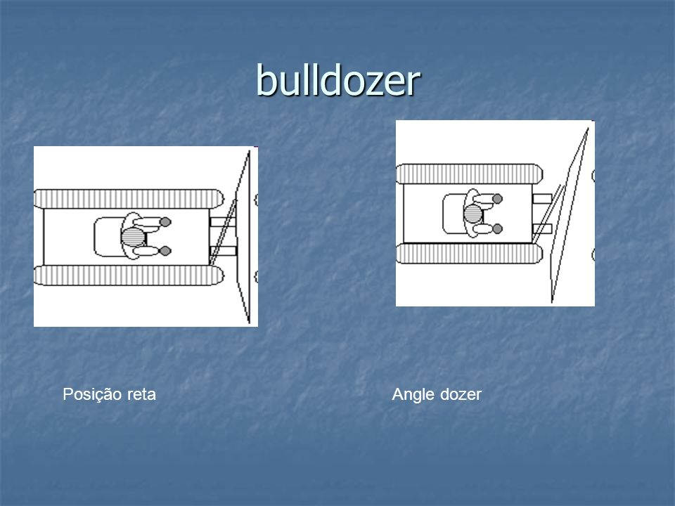 bulldozer Posição retaAngle dozer
