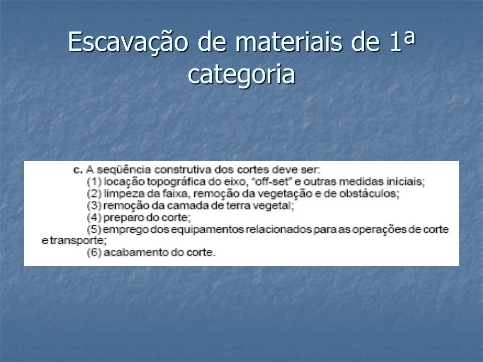Escavação de materiais de 1ª categoria