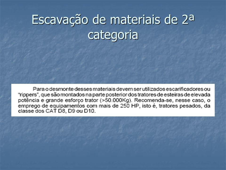Escavação de materiais de 2ª categoria