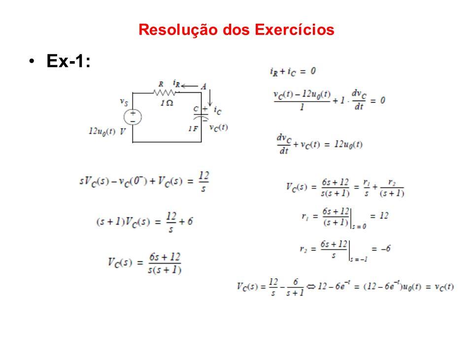 Resolução dos Exercícios Ex-1: