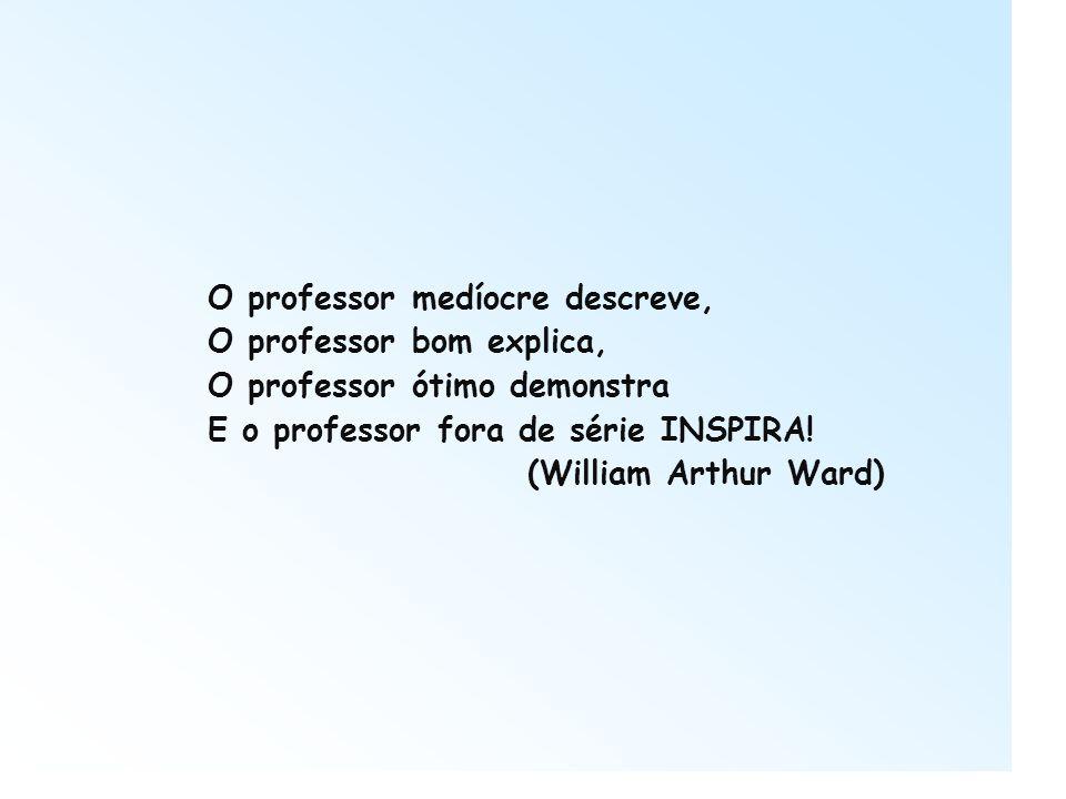 O professor medíocre descreve, O professor bom explica, O professor ótimo demonstra E o professor fora de série INSPIRA! (William Arthur Ward)