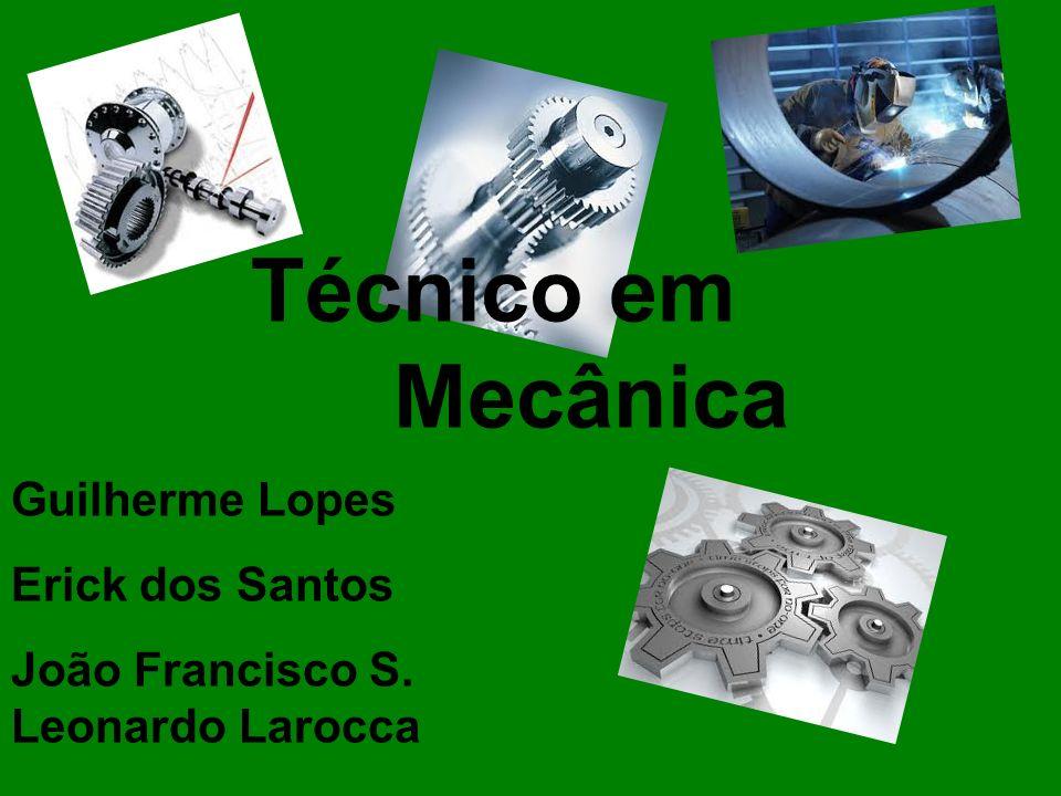 O que é ser técnico em Mecânica: O técnico em Mecânica é o profissional que: 1) elabora e executa projetos eletromecânicos; 2) monta e acompanha a instalação de máquinas e equipamentos; 3) planeja e realiza manutenção preventiva;