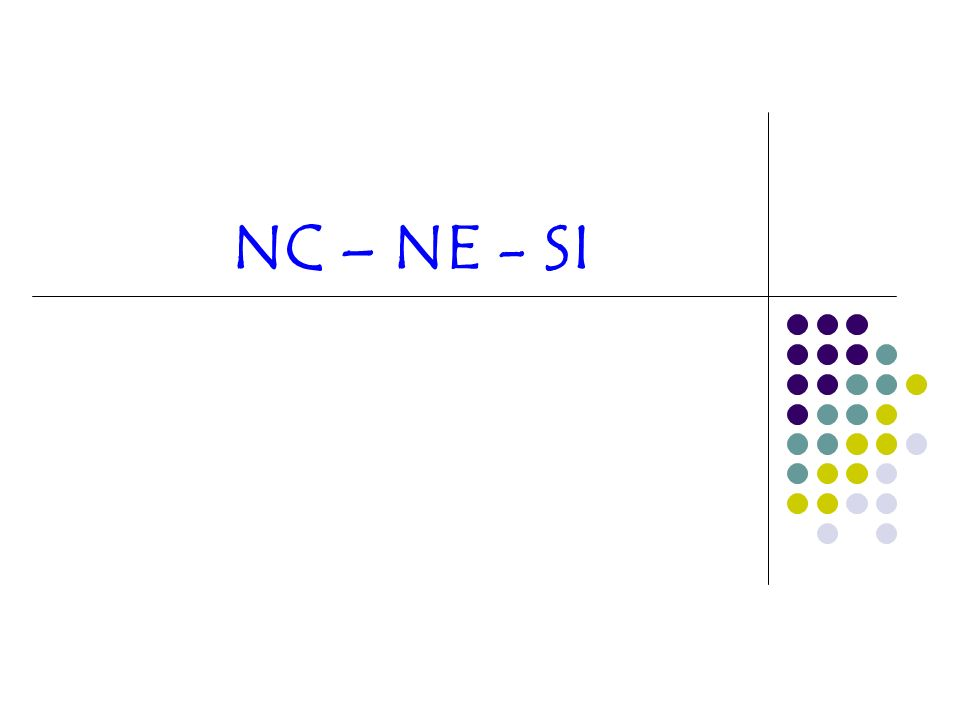 NC – NE - SI