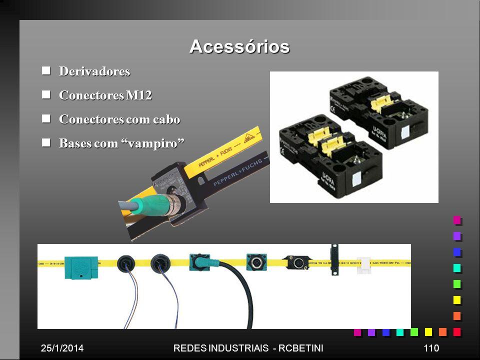 Acessórios 25/1/2014110REDES INDUSTRIAIS - RCBETINI nDerivadores nConectores M12 nConectores com cabo nBases com vampiro