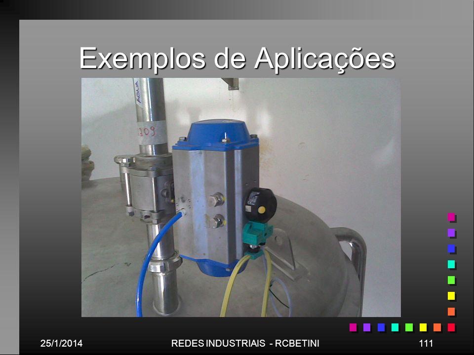 Exemplos de Aplicações 25/1/2014111REDES INDUSTRIAIS - RCBETINI