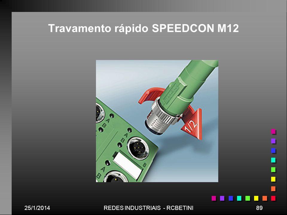 25/1/201489REDES INDUSTRIAIS - RCBETINI Travamento rápido SPEEDCON M12