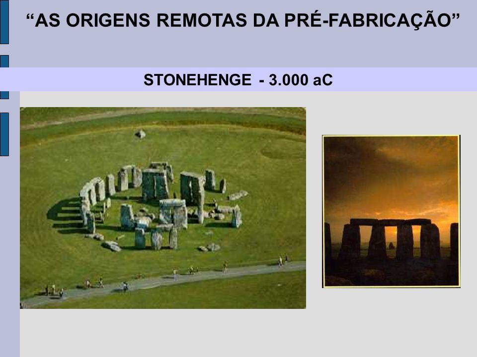 STONEHENGE - 3.000 aC AS ORIGENS REMOTAS DA PRÉ-FABRICAÇÃO