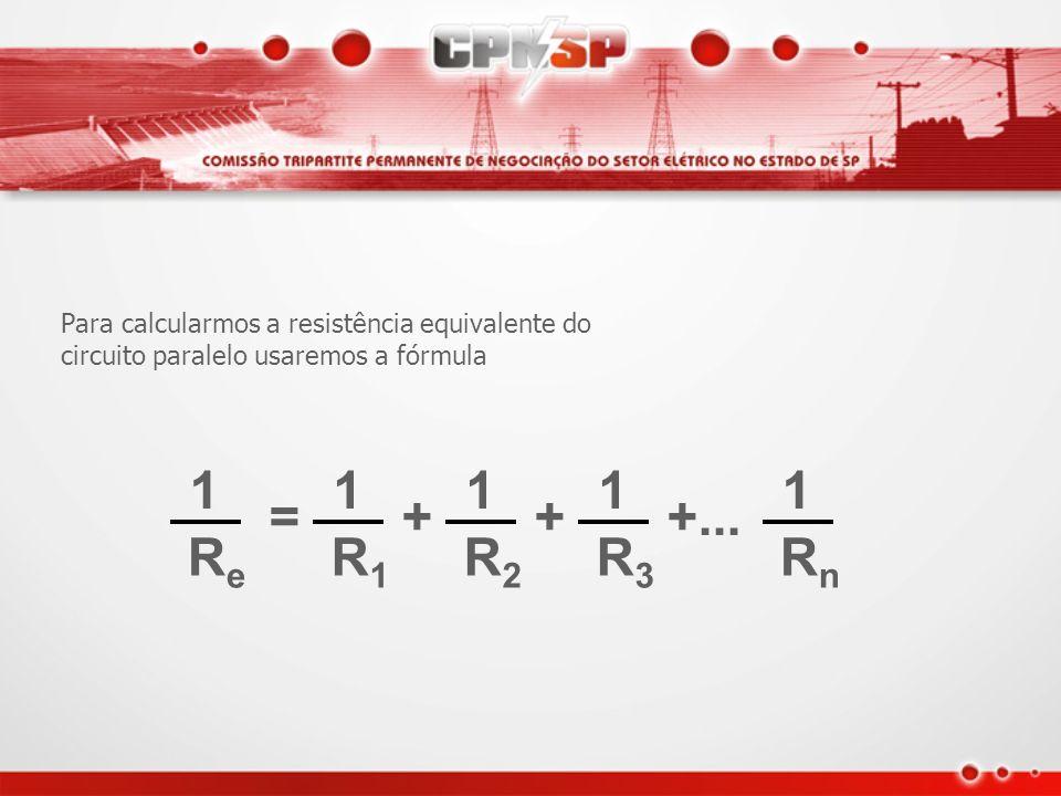 2 A 120 V 1 A A tensão é a mesma e a corrente se divide entre as resistências As resistências são independentes