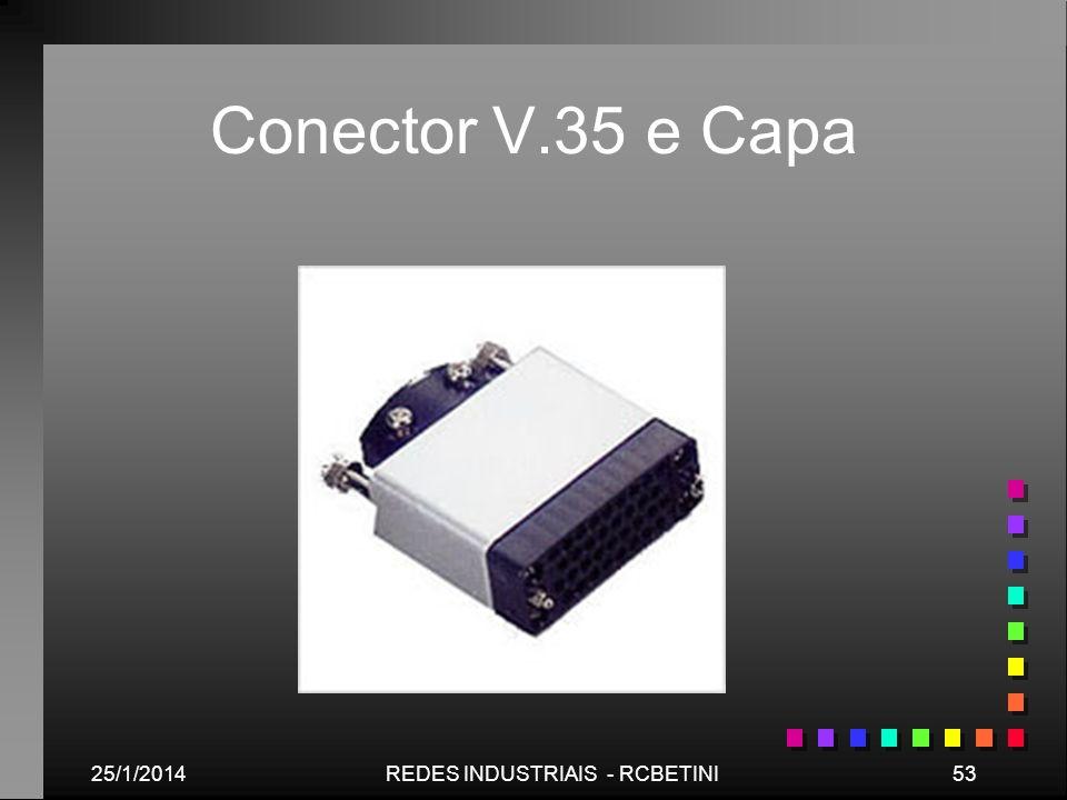 25/1/201453REDES INDUSTRIAIS - RCBETINI Conector V.35 e Capa