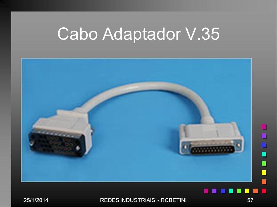 25/1/201457REDES INDUSTRIAIS - RCBETINI Cabo Adaptador V.35