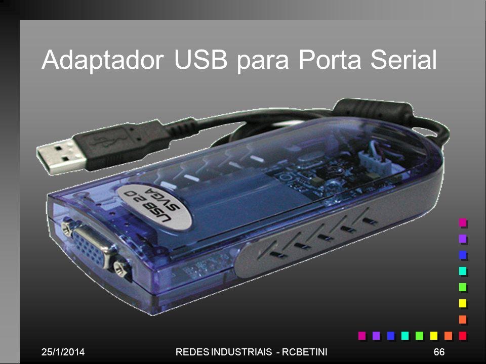 25/1/201466REDES INDUSTRIAIS - RCBETINI Adaptador USB para Porta Serial