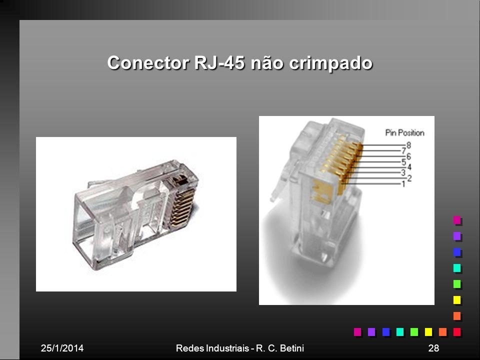 25/1/2014Redes Industriais - R. C. Betini28 Conector RJ-45 não crimpado