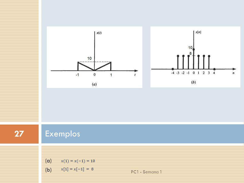 27 PC1 - Semana 1 (a) (b) Exemplos