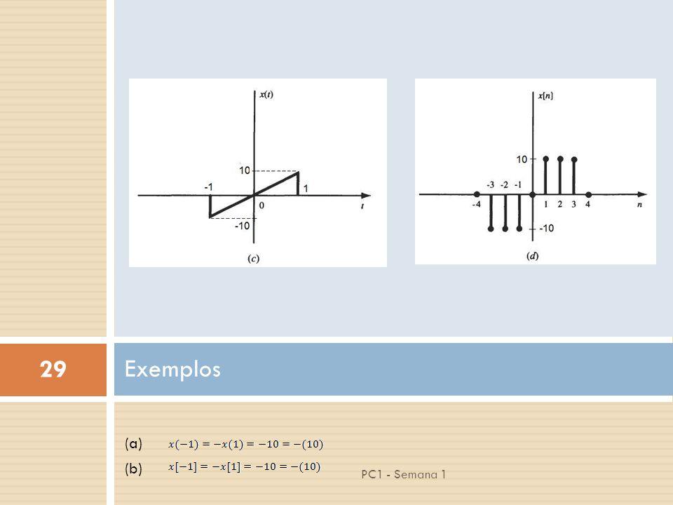 29 PC1 - Semana 1 (a) (b) Exemplos