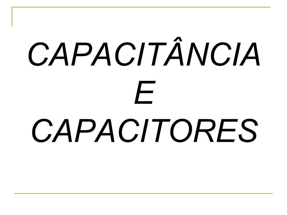 CAPACITÂNCIA É um conceito associado à capacidade de um condutor em armazenar cargas elétricas.