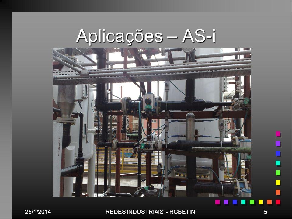 Aplicações – AS-i 25/1/20145REDES INDUSTRIAIS - RCBETINI