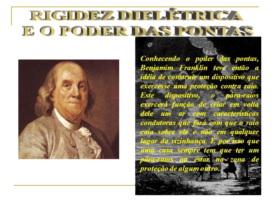 Conhecendo o poder das pontas, Benjamim Franklin teve então a idéia de construir um dispositivo que exercesse uma proteção contra raio. Este dispositi