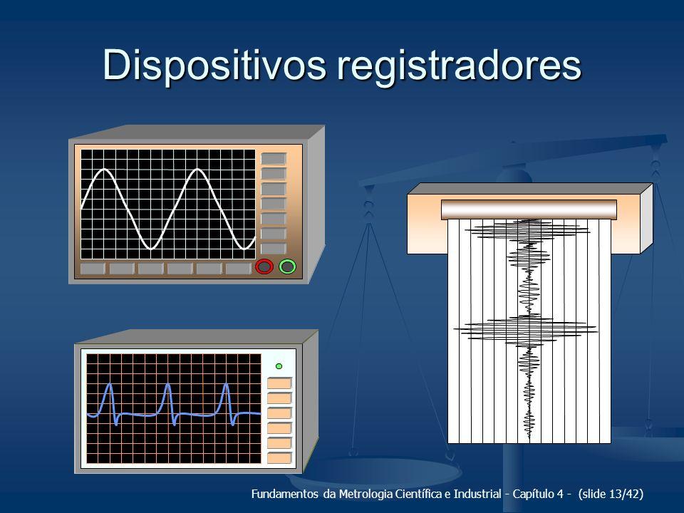 Fundamentos da Metrologia Científica e Industrial - Capítulo 4 - (slide 13/42) Dispositivos registradores