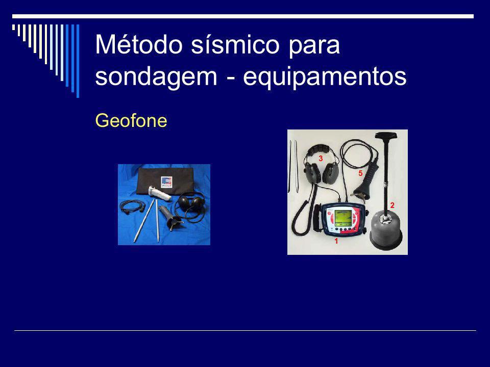 Método sísmico para sondagem - equipamentos Geofone