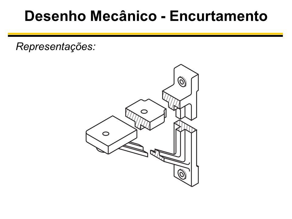 Desenho Mecânico - Encurtamento Representações: