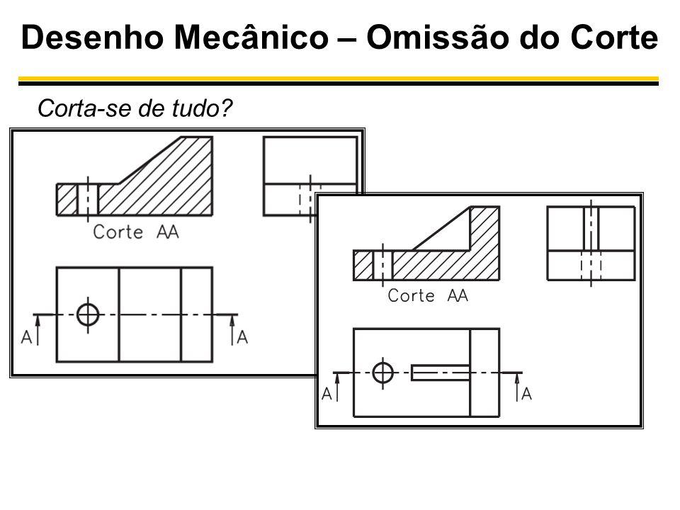 Desenho Mecânico – Omissão do Corte Corta-se de tudo?